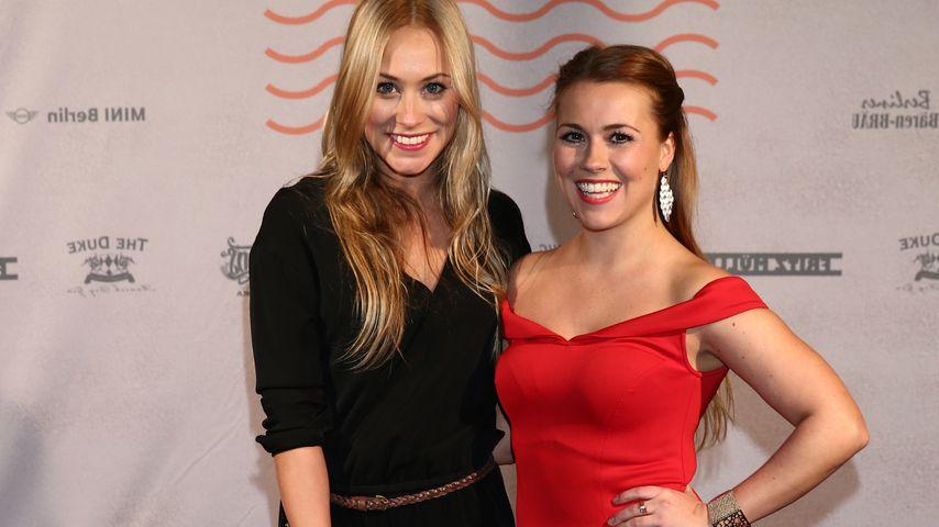 Sina und Sarah Tkotsch bei der Bavaria Film Party 2016
