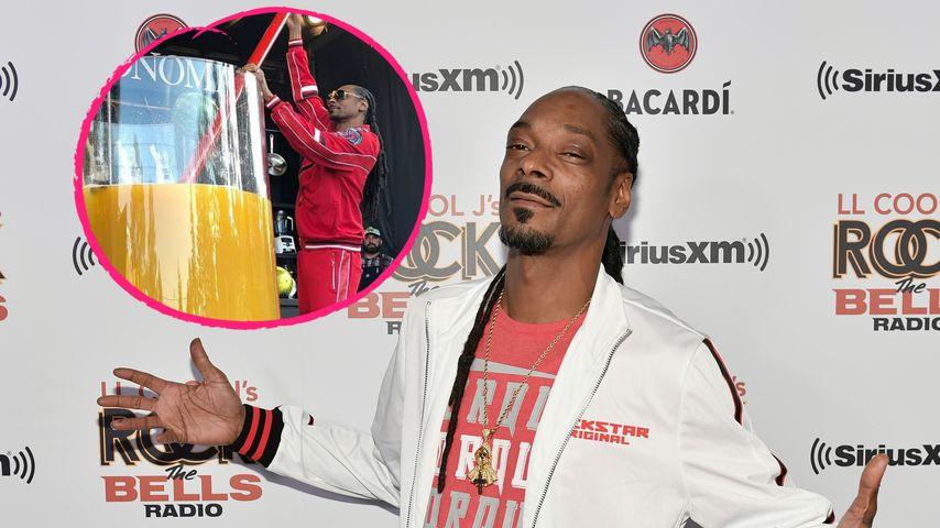 Weltrekord: Snoop Dogg mixt den größten Gin-Cocktail