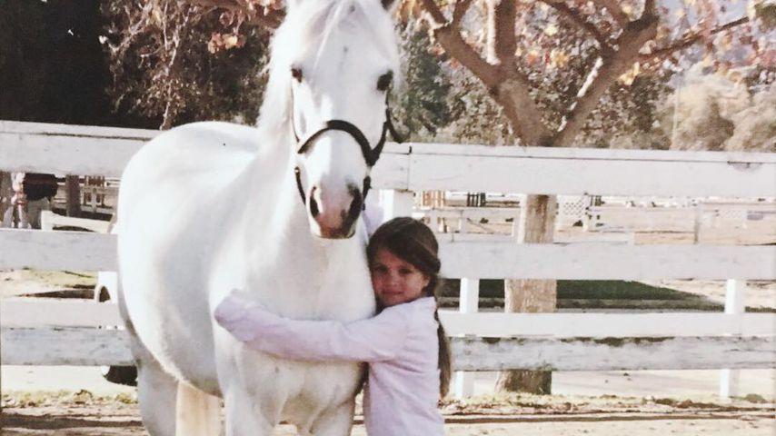 Sofia Richie mit ihrem Pferd namens Dragon