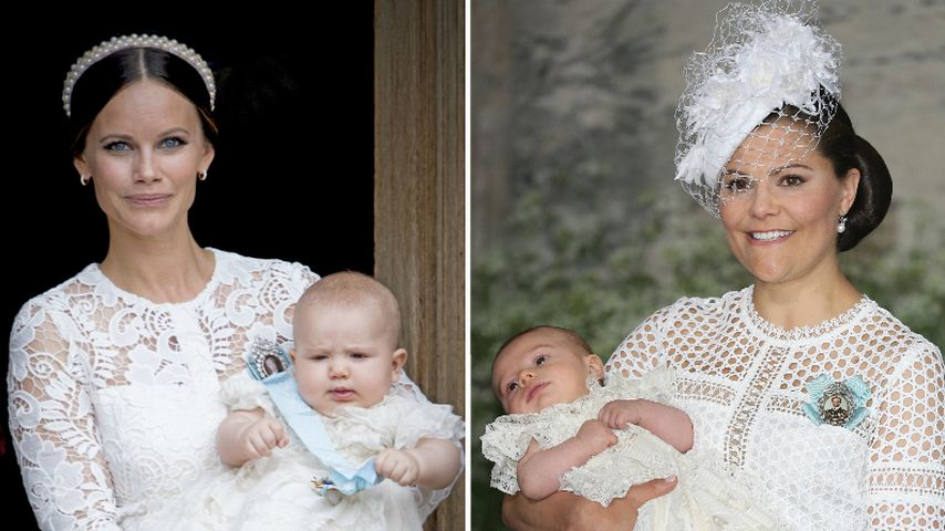 Tauf-Trend Weiß: Sofia & Victoria als Fashion-Zwillinge