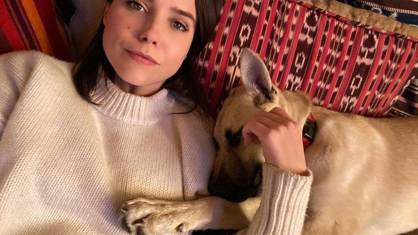 Sophia Bush mit ihrem Hund im März 2020