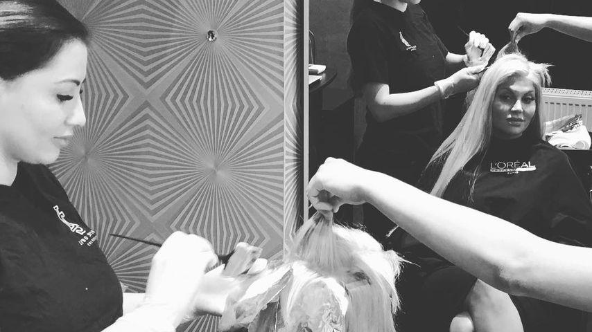 Im fünften Monat schwanger: Sophia Vegas färbt ihre Haare ...