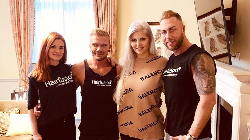 Sophia Vegas mit ihrem Styling-Team