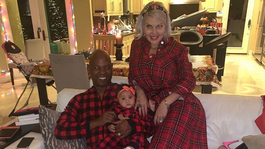Sophia Vegas mit ihrem Mann Daniel und Tochter Amanda, Dezember 2019