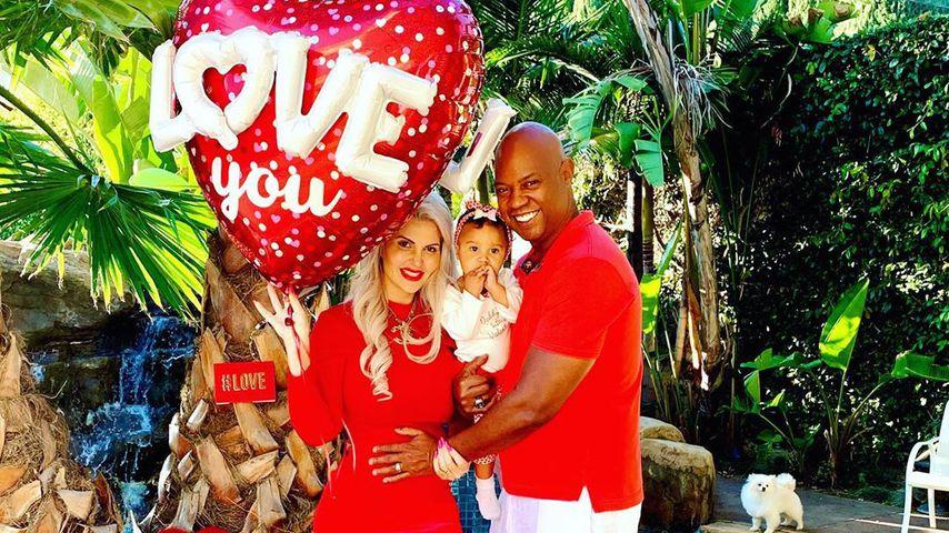 Sophia Vegas und Daniel Charlier mit ihrer Tochter in Beverly Hills