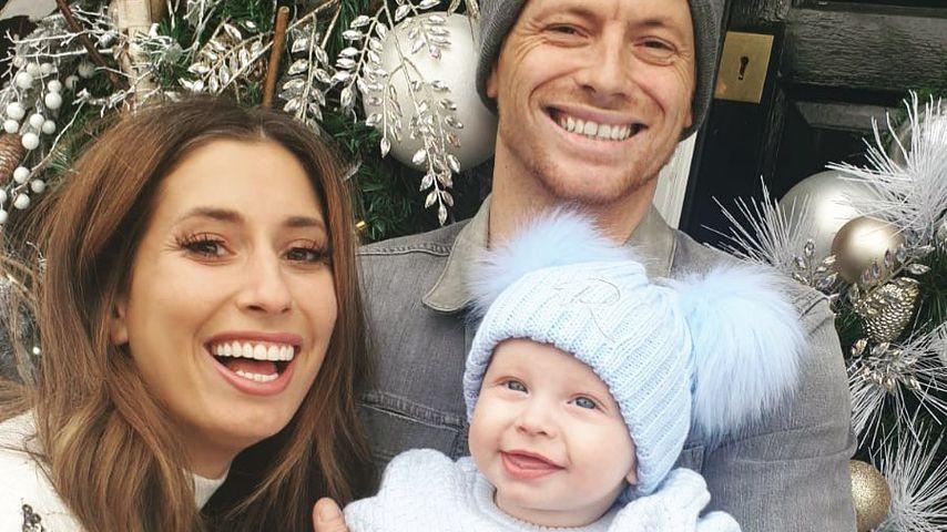 Stacey Solomon mit ihrem Partner Joe und Söhnchen Rex, Dezember 2019