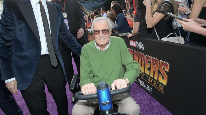 "Stan Lee bei der Premiere zu ""Avengers: Infinity War"""