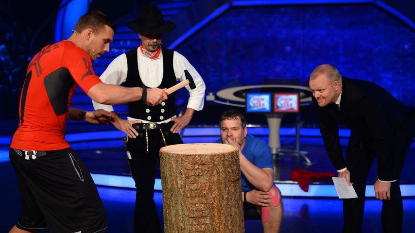 Lukas Podolski, Stefan Raab und Elton