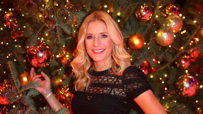 Stefanie Hertel bei der Aufzeichnung der MDR Sendung Die Grosse Show der Weihnachtslieder