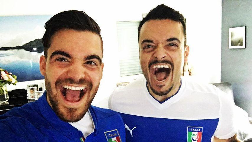 Sexy Bruder-Gespann: Giovannis Bruder Stefano macht ihn fit