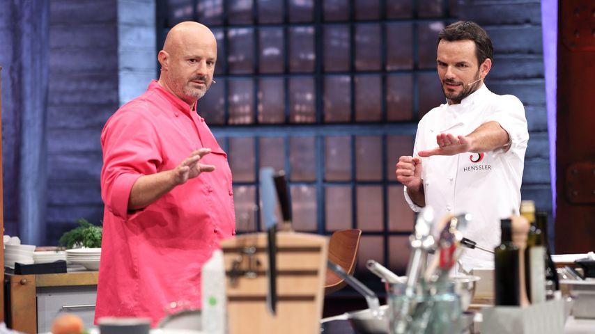 Reality-TV-Teilnehmer Detlef Steves und TV-Koch Steffen Henssler