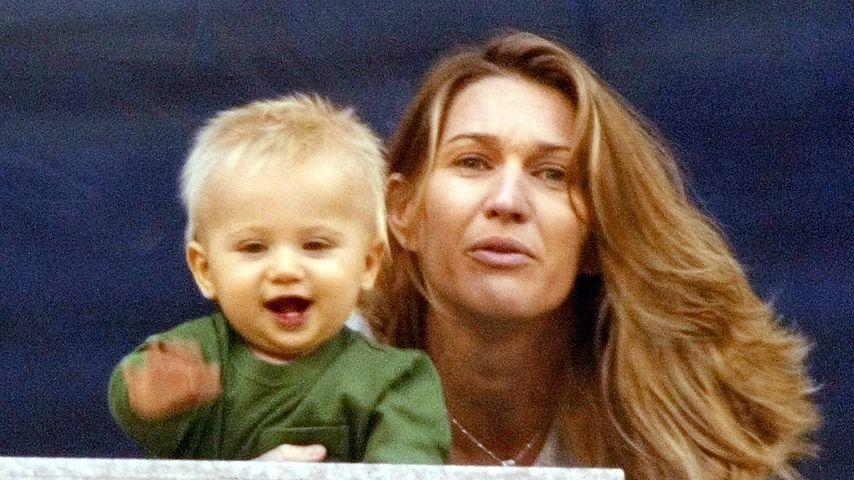 Jaden Gil Agassi und Steffi Graf bei den US Open 2002