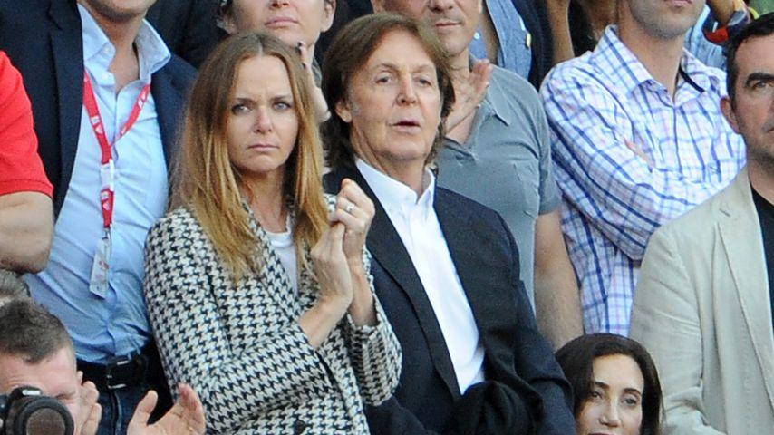Stella und Paul McCartney mit Nancy Shevell bei den Olympischen Spielen 2012 in London