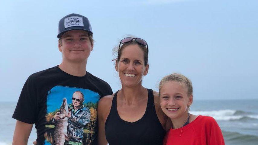 Stephanie Reece mit ihren Kindern