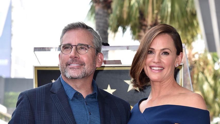 Die Schauspieler Steve Carell und Jennifer Garner 2018 in Hollywood