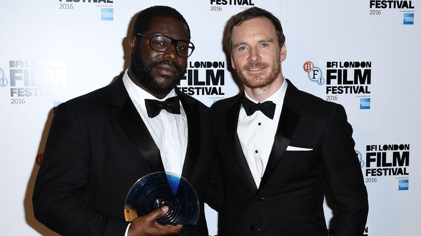 Regisseur Steve McQueen und Michael Fassbender bei den 60. BFI London Film Festival Awards