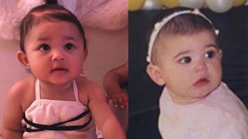 Wie Twins: Kylie Jenner vergleicht Throwback-Pic mit Stormi