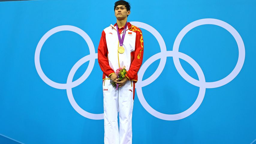 Sun Yang bei seinem Olympia-Triumph 2012 in London