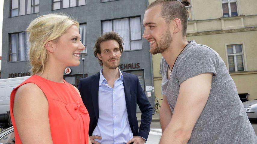 Sunny (Valentina Pahde), Felix Lehmann (Thaddäus Meilinger) und Chris Lehmann (Eric Stehfest)