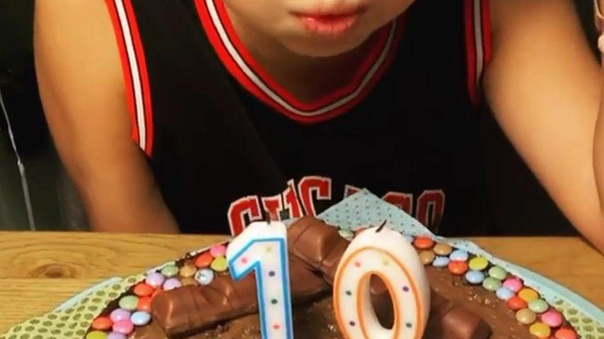 Susan Sideropoulos' Sohn Liam an seinem 10. Geburtstag im August 2021