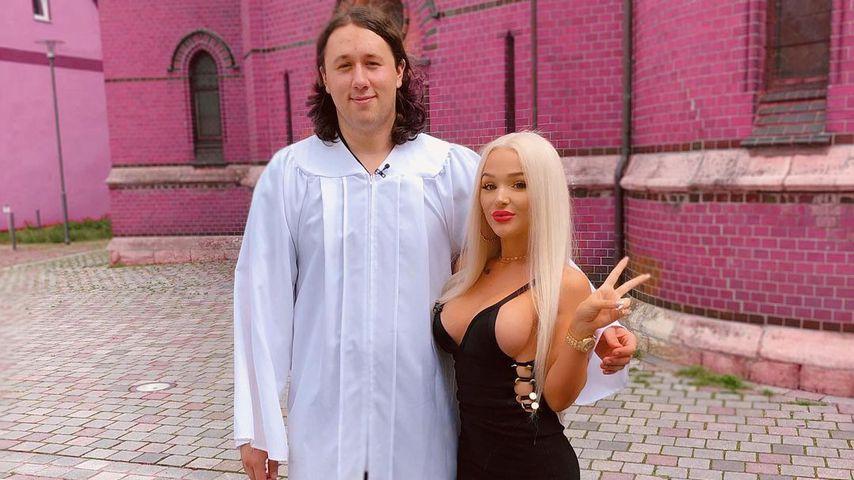 """Sven K. und seine """"Beauty & The Nerd""""-Partnerin Emmy Russ im Juni 2020"""