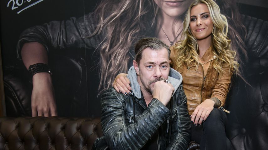 Sven Martinek und Sophia Thomalla bei der Panorama Messe in Berlin