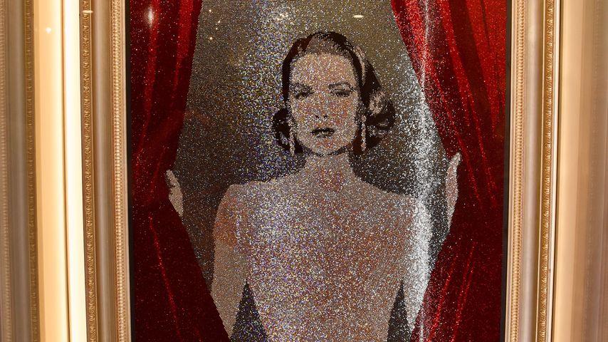 Swarovski-Gemälde von Grace Kelly, erstellt von den Künstlern Marnali