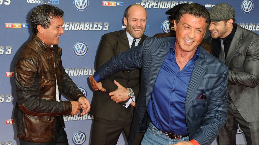 Jason Statham, Kellan Lutz, Sylvester Stallone und Antonio Banderas