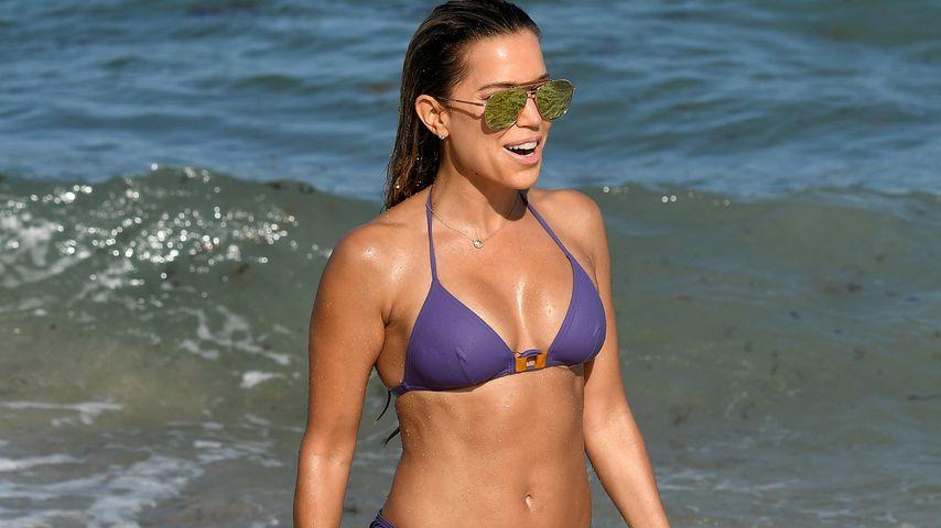Sylvie Meis am Strand von Miami 2018