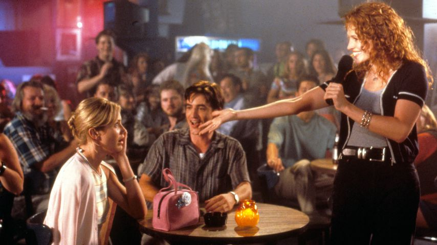 """Cameron Diaz, Dermot Mulroney und Julia Roberts in """"Die Hochzeit meines besten Freundes"""""""