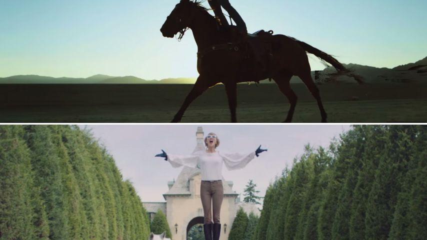 Szenen aus Musikvideos von Calvin Harris und Taylor Swift
