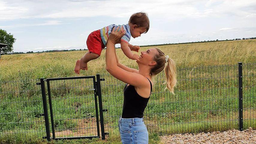 Tamara Gülpen mit ihrem Sohn Giulio