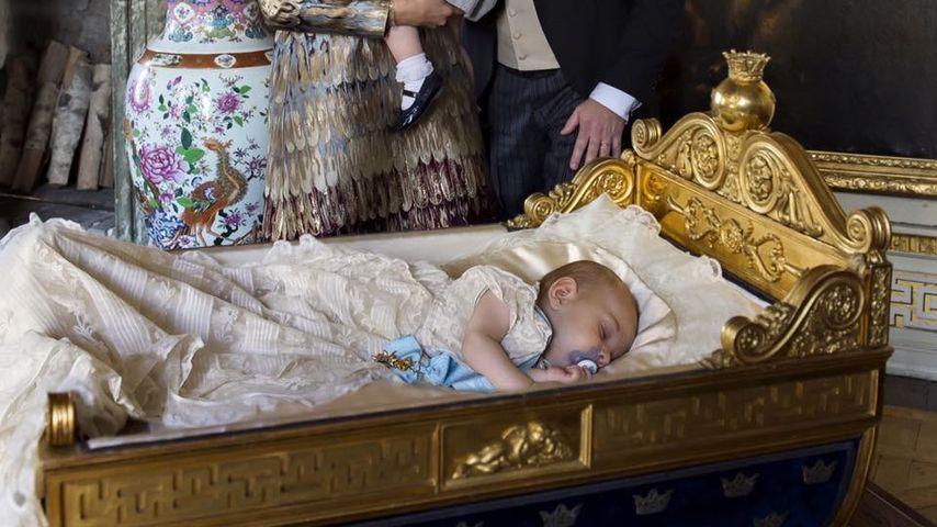 Tauffoto von Prinz Nicolas von Schweden