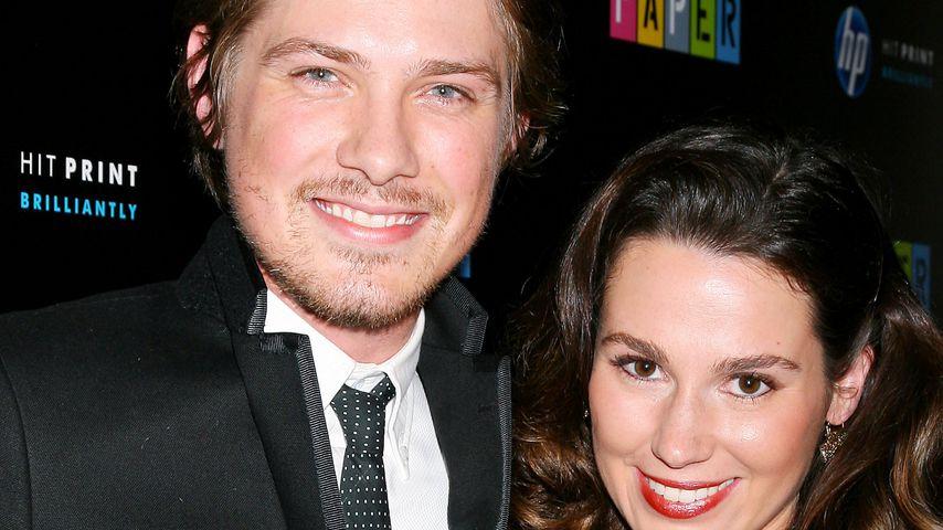 Taylor Hanson und seine Frau Natalie auf einem Event im in New York 2009