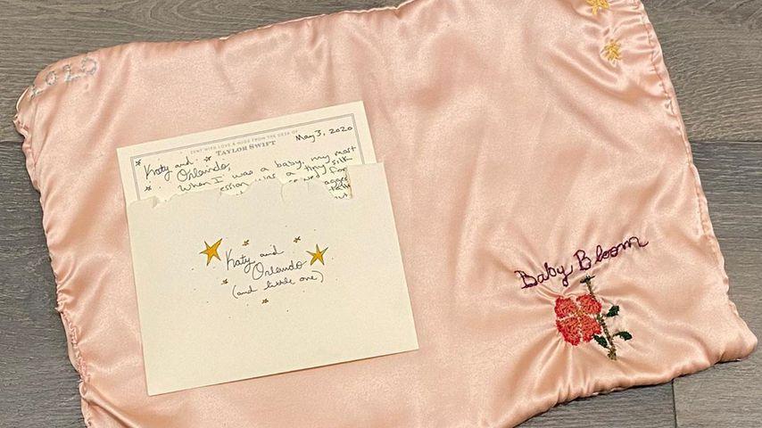 Babytuch, Geschenk von Taylor Swift an Katy Perrys Tochter