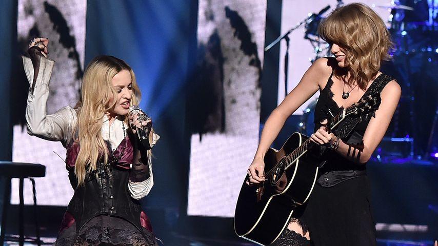 Strapsen-Show! Madonna und Taylor Swift als Rocker-Bitches