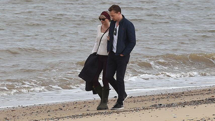 Taylor Swift und Tom Hiddleston am Strand nahe Lowestoft