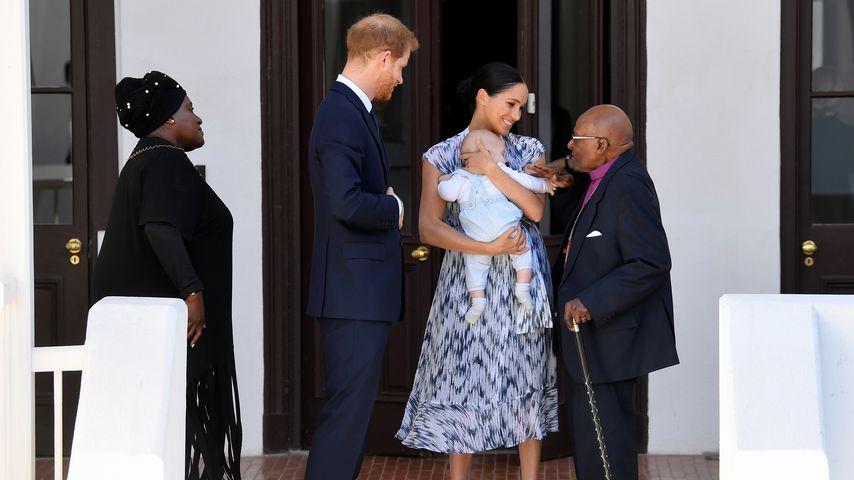 Thandeka Tutu-Gxashe, Prinz Harry, Archie Harrison, Herzogin Meghan und Desmond Tutu