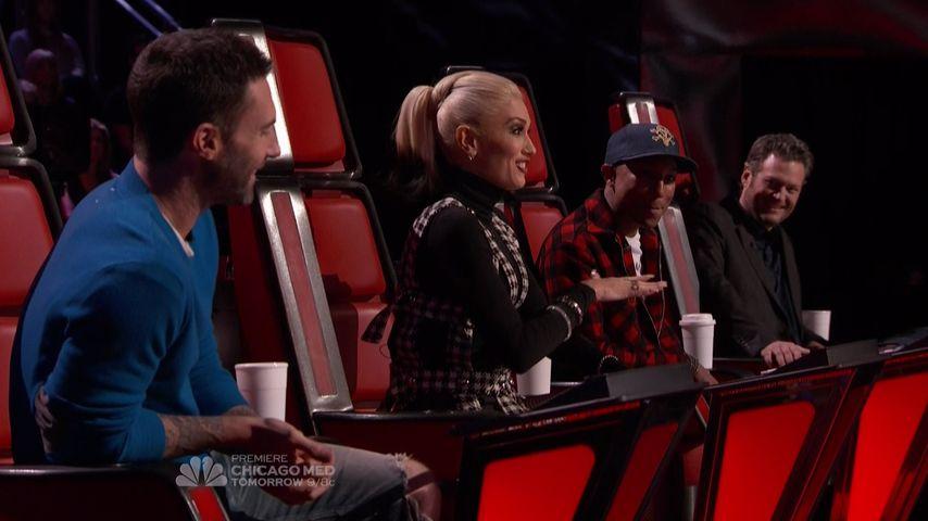 """Süßer Flirt: Gwen Stefani & Blake verliebt bei """"The Voice"""""""