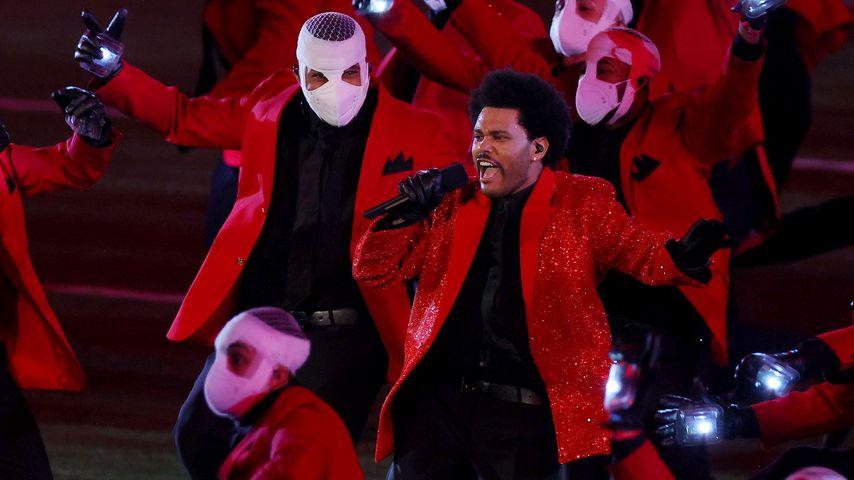 Sänger The Weeknd in der Halbzeitshow des Super Bowls