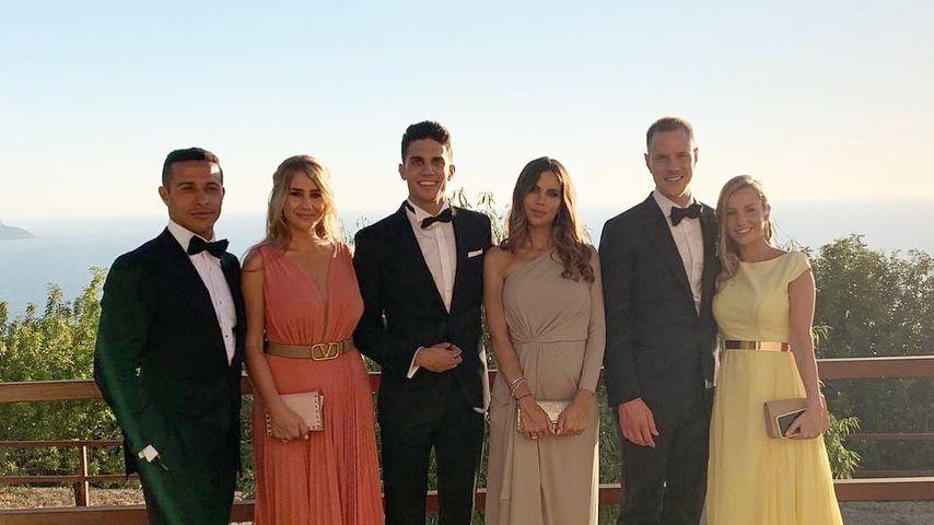 Thiago Alcantara, Júlia Vigas, Marc Bartra, Melissa Jimenez, Marc und Dani ter Stegen auf Mallorca