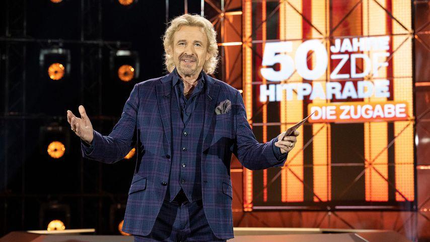 """Thomas Gottschalk bei """"50 Jahre ZDF-Hitparade – die Zugabe"""""""