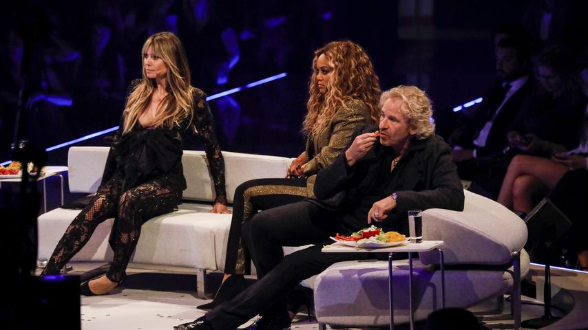 "Thomas Gottschalk, Tyra Banks und Heidi Klum im Finale von ""Germany's next Topmodel"""