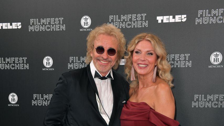 Thomas Gottschalk und Karina Mroß beim Filmfest in München
