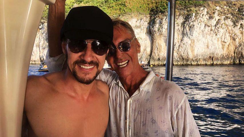 Thomas Hayo und Wolfgang Joop im August 2019 auf Capri