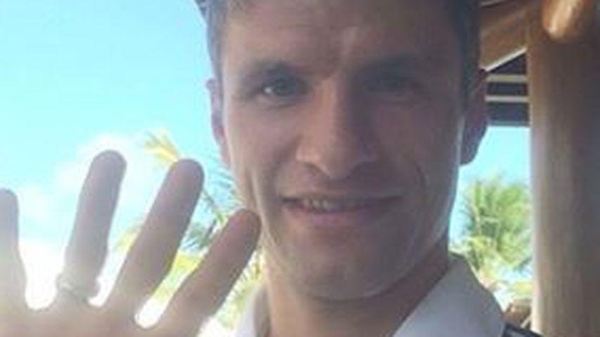 Stolz! WM-Held Thomas Müller im Heimatort gefeiert