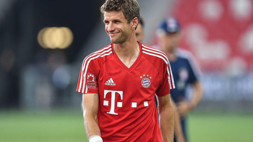 Thomas Müller während eines Trainings von FC Bayern München