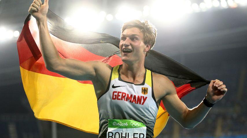Thomas Röhler nach seinem Sieg bei Olympia 2016