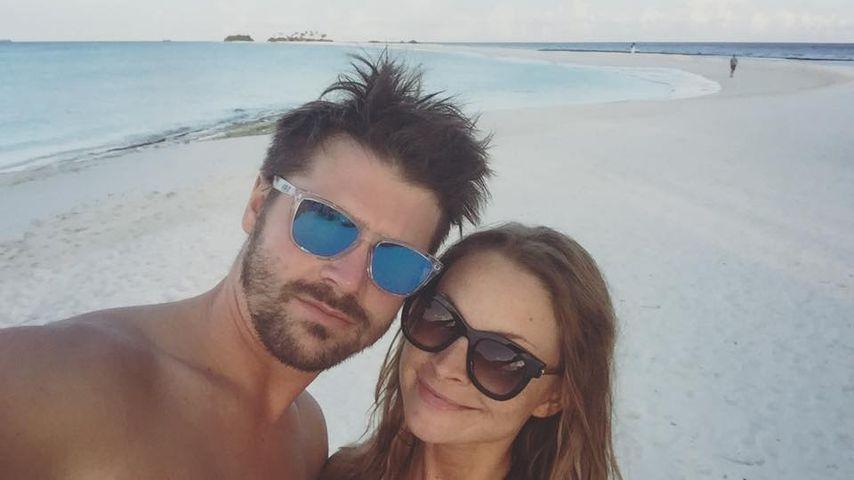 Thore Schölermann und Jana Julie Kilka im Urlaub auf den Malediven