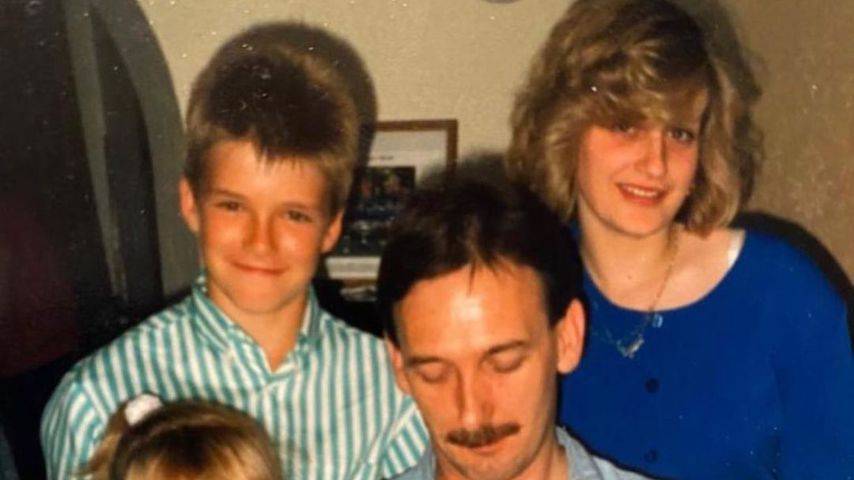 Throwback-Bild von David Beckham und seiner Familie